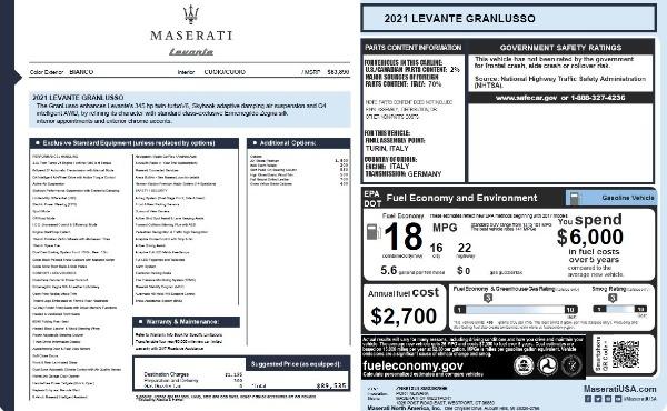New 2021 Maserati Levante Q4 GranLusso for sale $89,535 at Maserati of Westport in Westport CT 06880 27