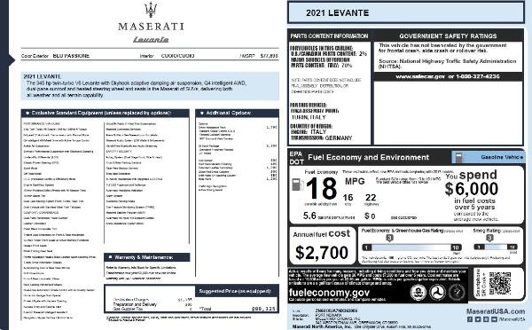 New 2021 Maserati Levante Q4 for sale Call for price at Maserati of Westport in Westport CT 06880 22