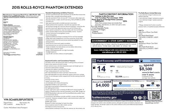 Used 2015 Rolls-Royce Phantom EWB for sale $299,900 at Maserati of Westport in Westport CT 06880 26