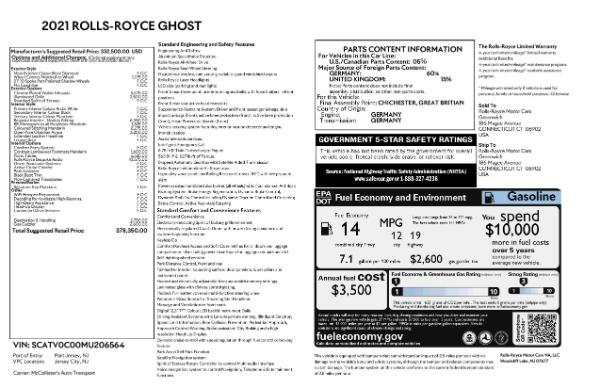 New 2021 Rolls-Royce Ghost for sale $378,350 at Maserati of Westport in Westport CT 06880 8