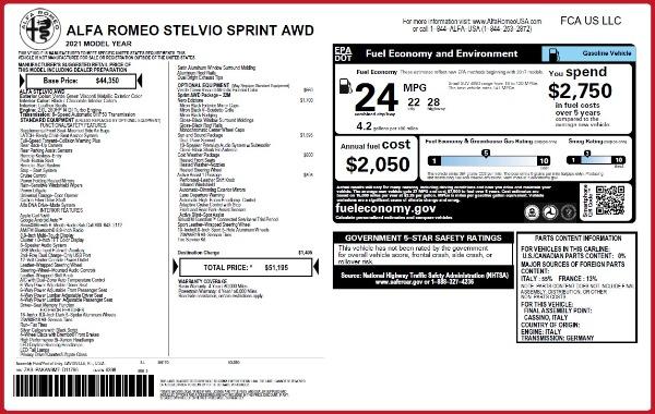 New 2021 Alfa Romeo Stelvio Q4 for sale $50,595 at Maserati of Westport in Westport CT 06880 2