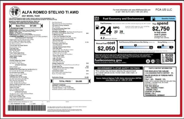 New 2021 Alfa Romeo Stelvio Ti Q4 for sale Sold at Maserati of Westport in Westport CT 06880 28