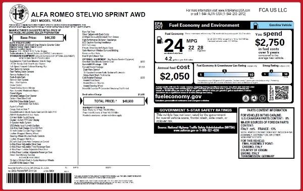 New 2021 Alfa Romeo Stelvio Q4 for sale Sold at Maserati of Westport in Westport CT 06880 2