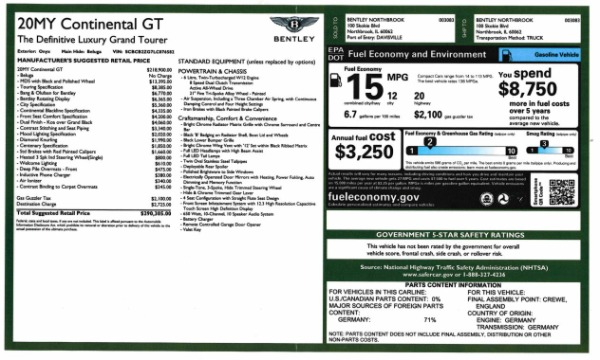 New 2020 Bentley Continental GT W12 for sale $290,305 at Maserati of Westport in Westport CT 06880 28