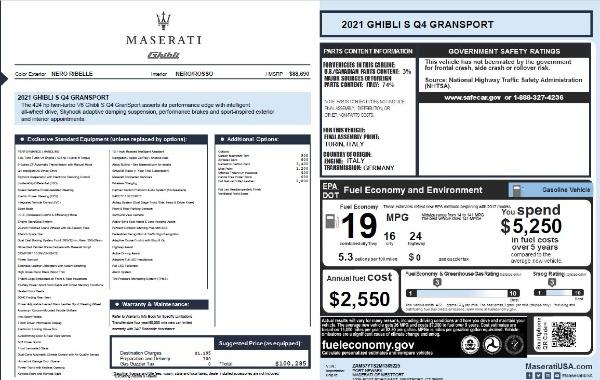 New 2021 Maserati Ghibli S Q4 GranSport for sale Call for price at Maserati of Westport in Westport CT 06880 28