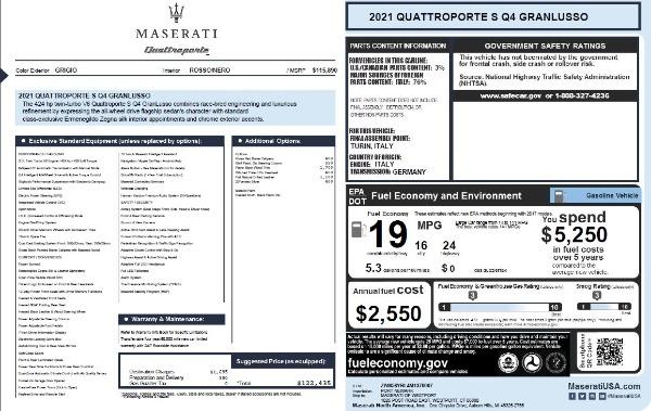 New 2021 Maserati Quattroporte S Q4 GranLusso for sale $122,435 at Maserati of Westport in Westport CT 06880 27