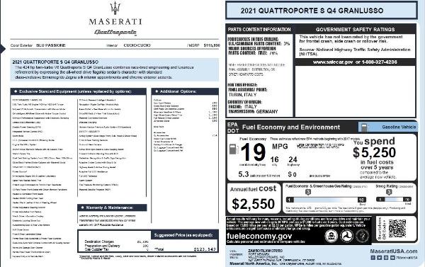 New 2021 Maserati Quattroporte S Q4 GranLusso for sale $123,549 at Maserati of Westport in Westport CT 06880 25