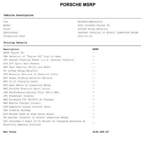 Used 2021 Porsche Taycan 4S for sale $125,900 at Maserati of Westport in Westport CT 06880 26