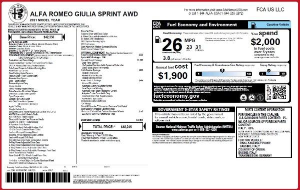 New 2021 Alfa Romeo Giulia Q4 for sale $48,245 at Maserati of Westport in Westport CT 06880 2