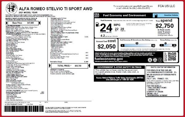 New 2021 Alfa Romeo Stelvio Ti Sport Q4 for sale $55,700 at Maserati of Westport in Westport CT 06880 27