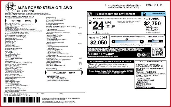 New 2021 Alfa Romeo Stelvio Ti Q4 for sale Call for price at Maserati of Westport in Westport CT 06880 2