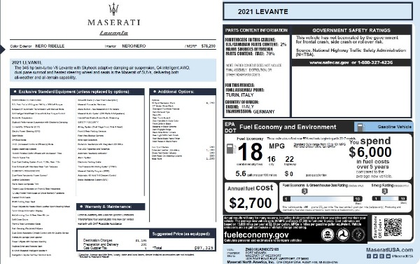 New 2021 Maserati Levante Q4 for sale Sold at Maserati of Westport in Westport CT 06880 25
