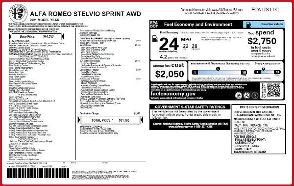 New 2021 Alfa Romeo Stelvio Q4 for sale $51,195 at Maserati of Westport in Westport CT 06880 2