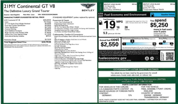 Used 2021 Bentley Continental GT V8 for sale Sold at Maserati of Westport in Westport CT 06880 27