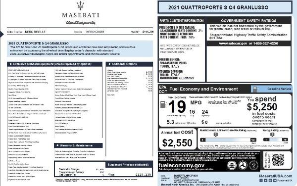 New 2021 Maserati Quattroporte S Q4 GranLusso for sale $129,135 at Maserati of Westport in Westport CT 06880 27
