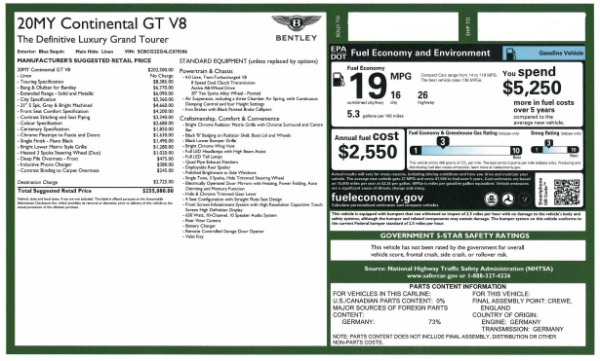 New 2020 Bentley Continental GT V8 for sale $255,080 at Maserati of Westport in Westport CT 06880 28