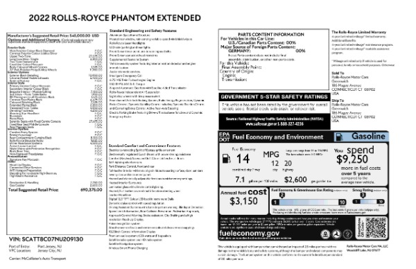 New 2022 Rolls-Royce Phantom EWB for sale Call for price at Maserati of Westport in Westport CT 06880 9
