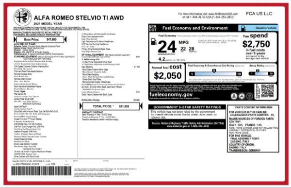 New 2021 Alfa Romeo Stelvio Ti for sale $51,955 at Maserati of Westport in Westport CT 06880 24