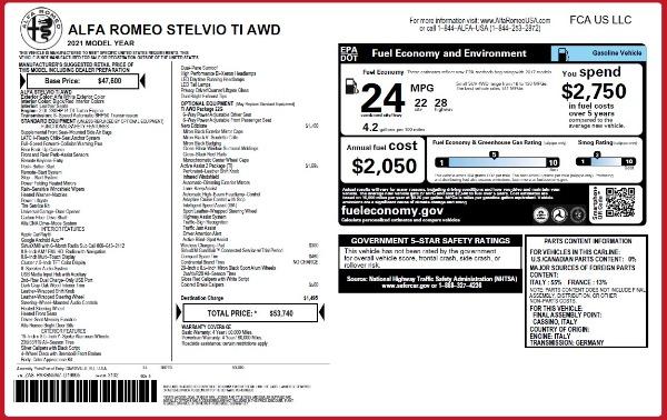 New 2021 Alfa Romeo Stelvio Ti Q4 for sale $53,740 at Maserati of Westport in Westport CT 06880 24
