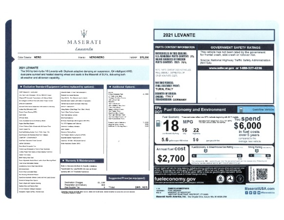 New 2021 Maserati Levante for sale Sold at Maserati of Westport in Westport CT 06880 2
