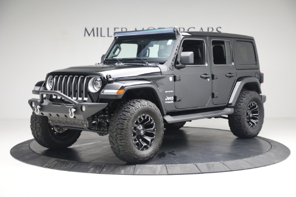 Used 2020 Jeep Wrangler Unlimited Sahara for sale Call for price at Maserati of Westport in Westport CT 06880 2